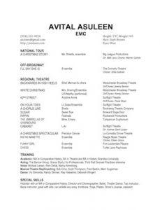 Avital Asuleen performer resume