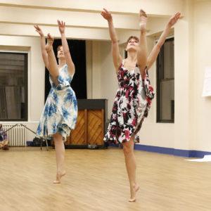 Caitlin Cannon and Nikol Peterman at the Choreolab