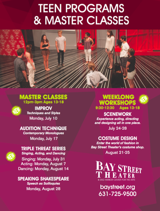 Bay Street Theater- Musical Theater Dance Workshop!